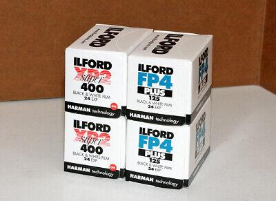 4 Pellicola 35mm Rullino fotografico Ilford XP2 400 FP4 125 asa 24 bianco e nero
