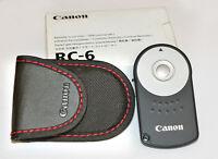 Telecomando Originale Fotocamera Reflex Digitale Canon Eos Remote Control Rc6 - canon - ebay.it