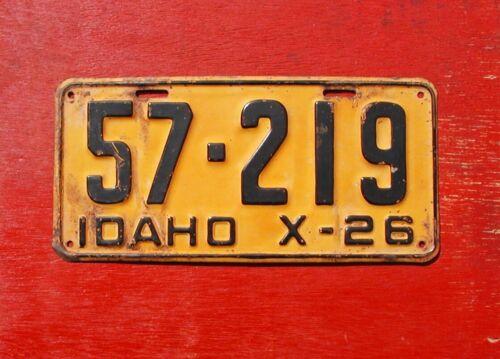 1926 Idaho Original 57-219 License Plate