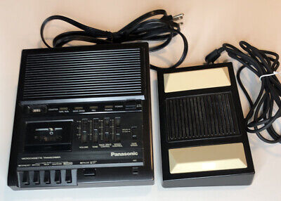 Panasonic Microcassette Transcriber Rr-930 With Foot Pedal Rp-2692 Tested Works