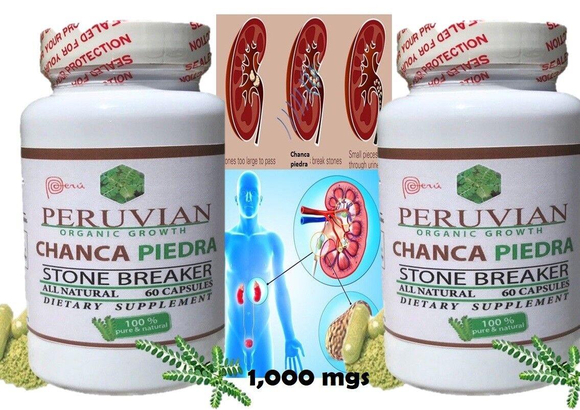 CHANCA PIEDRA X 120 CAPS RINONES Y VEJIGA / KIDNEYS AND BLADDER HEALTH 1000 MGS