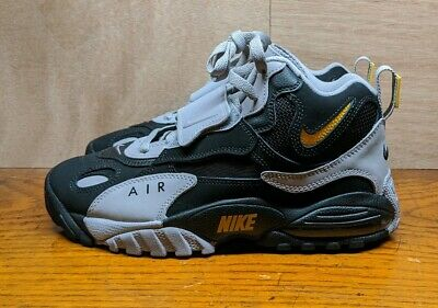 New Nike Air Max Speed Turf Trainer Shoes Deion Grey Yellow Size 8 AV7895-001