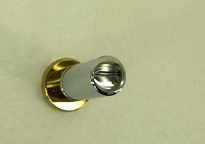 Orange Zahnbürstenhalter (Damixa Orange Wand Zahnbürstenhalter Chrom/Gold Messing für 2 Zahnbürsten 48305)