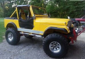 "1979 Jeep 390 cubic inch, 37"" tires"