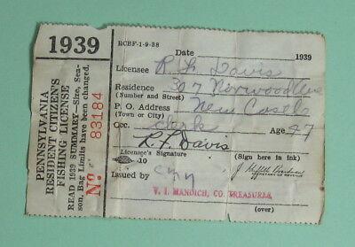 Licenses - 1939 Pennsylvania