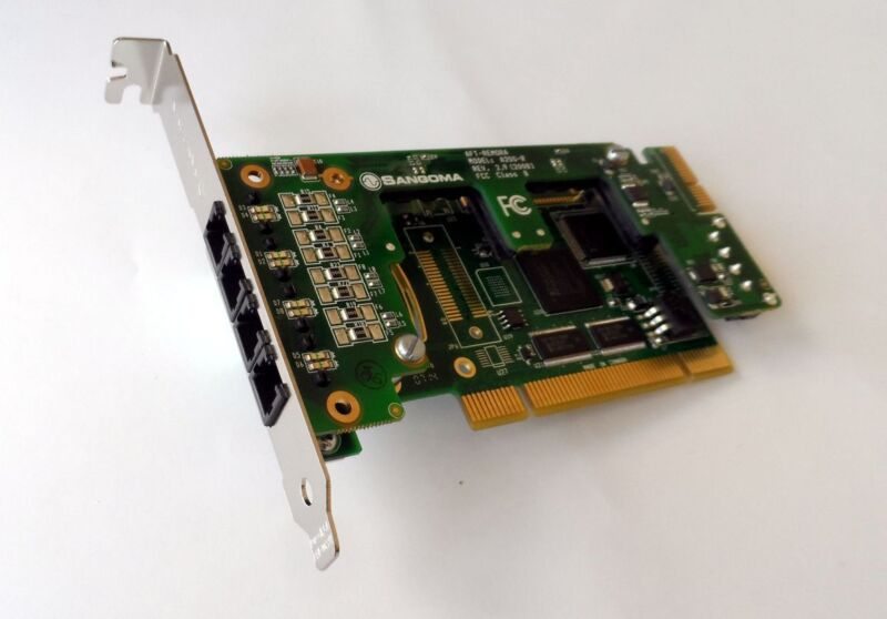 Sangoma A20003 6 FXO analog card - PCI