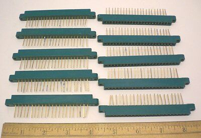 10 Pc Card Edge Connector 22 Position Single Readout Methode Made In Usa
