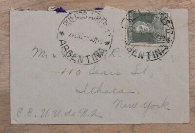 Mayfaristamps Argentina 1935 Buenos Aires to Ithaca NY Cover wwp10503