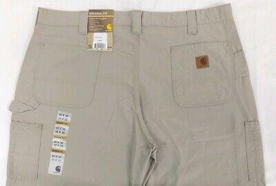 NEW Carhartt Canvas Work Dungaree Pants Loose Original Fit Tan 42x32 Khaki B151