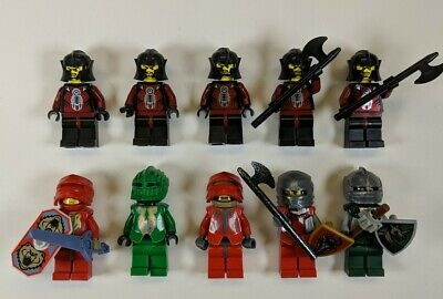 10 Lego Castle KNIGHTS KINGDOM II Minifigures -  Santis Danju & Rascus