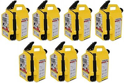 7 Ea Surecan Sur50d1 5 Gallon Diesel Fuel Can W Rotating Flex Spout