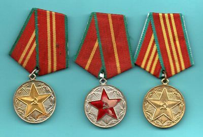 ORIGINAL RUSSIA RUSSLAND MEDAL SET 10.15.20 years Military Service 633