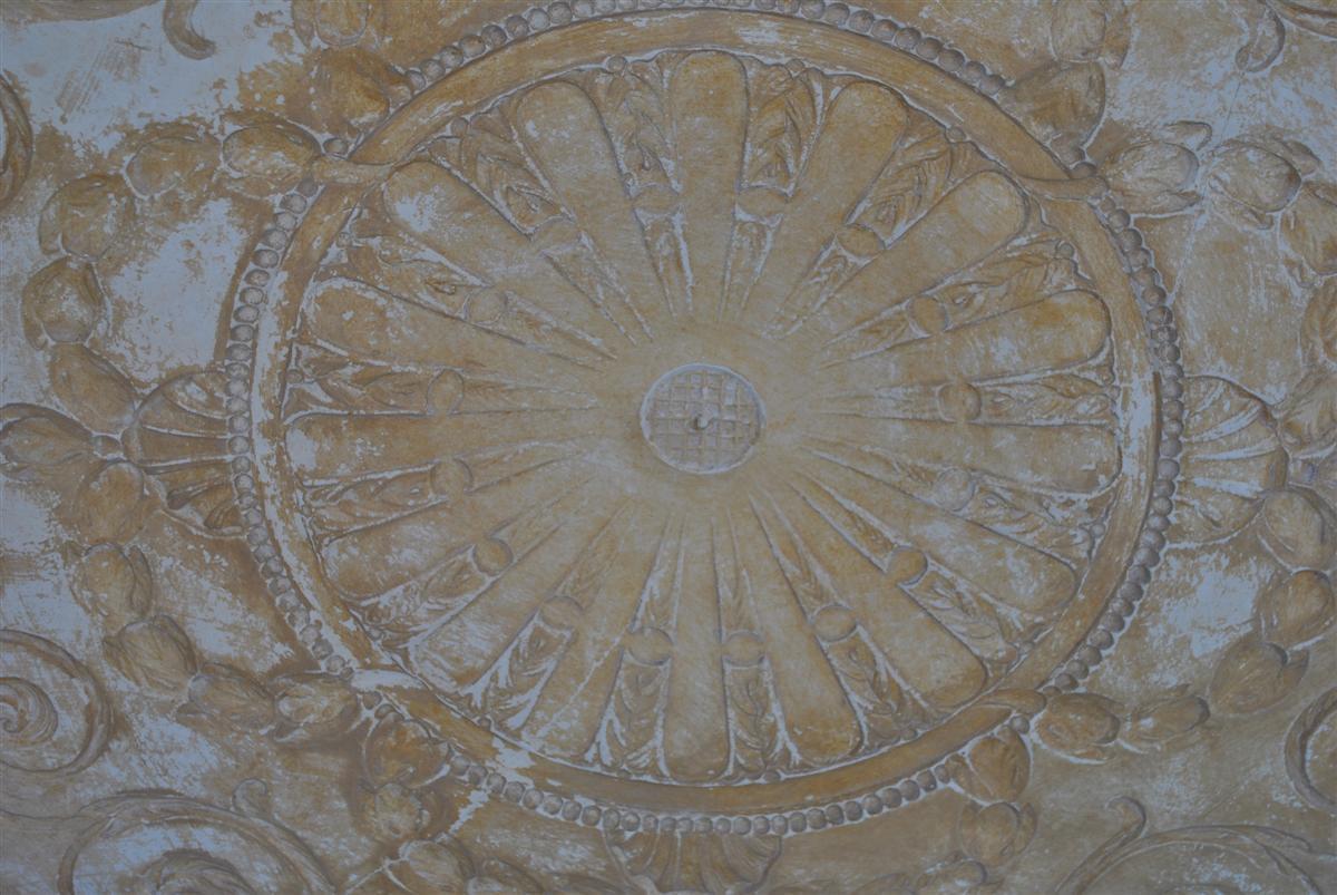 Moule ancien d 39 atelier de pl trier staffeur rosace de for Rosace de plafond
