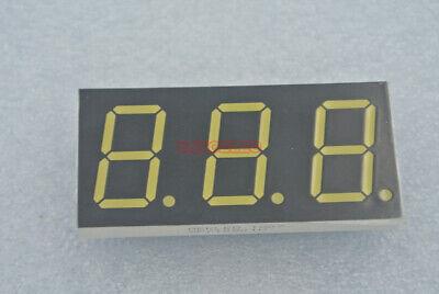 0.8 Inch Segment Led 3-digit 7-seg Common Anode Ultra Bright Emitted White X2pc