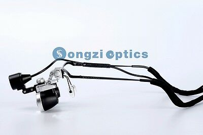 High Quality 2.5x Waterproof Half Frame Dental Surgical Loupes Led Light