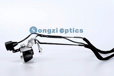 High Quality 2.5x Waterproof Half Frame Dental Surgical Loupes Led Light