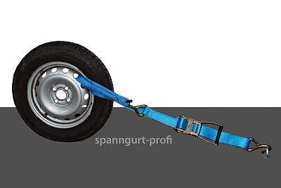 4 x AUTOTRANSPORT Spanngurt, KFZ Zurrgurt Radsicherung Fahrzeugsicherung (6)