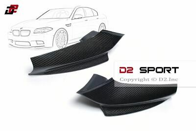 Carbon Fiber P Style Front Bumper Lip Splitters for BMW F10 F11 5-Series M Sport