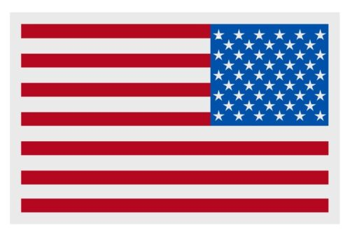 """American Flag REVERSED Small Reflective Helmet Decal Sticker  (2"""" X 3"""" approx)"""