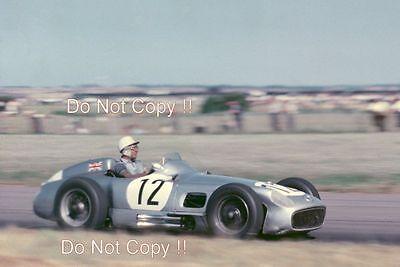 Stirling Moss Mercedes W196 Winner British Grand Prix 1955 Photograph 2