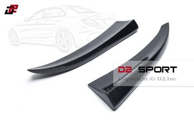 Carbon Fiber Rear Bumper Splitter Extensions for Mercedes W205 C-Class Sedan AMG
