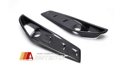 Front Bumper Carbon Fiber Add-Ons Upper Splitters Covers for BMW X5M F85 X6M F86