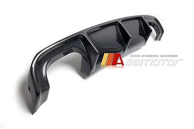 V Style Carbon Fiber Rear Bumper Diffuser Quad for BMW F85 X5 M X5M F86 X6 M X6M