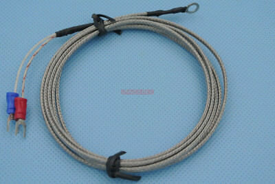 Type K Thermocouple 0-400c Smd Temperature Sensor Ring Terminal 1.5meters X1pcs