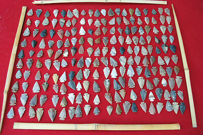 200 PCS LOT OF ARROWHEADS SPEARHEAD BOW POINTS HUNTING FLINT STONE COLLECTION