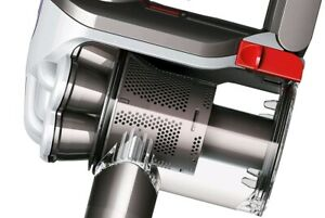 Two Dyson Vacuums: handheld D45 and upright light ball D50
