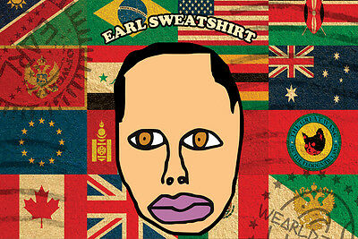 "Earl Sweatshirt Flags Poster Free US Shipping 24"" x 36"" Odd Future"