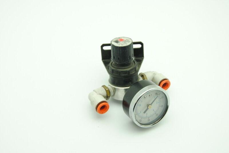 Ross 5211B2004 Pneumatic Flow Regulator w/ 160PSI Pressure Gauge