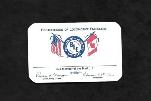 Vintage Brotherhood of Locomotive Engineers Membership Card....Blank Unmarked