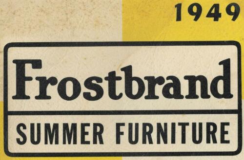 1948 shreveport outdoor furniture catalog FROSTBAND @1949; plant photo LOUISIANA