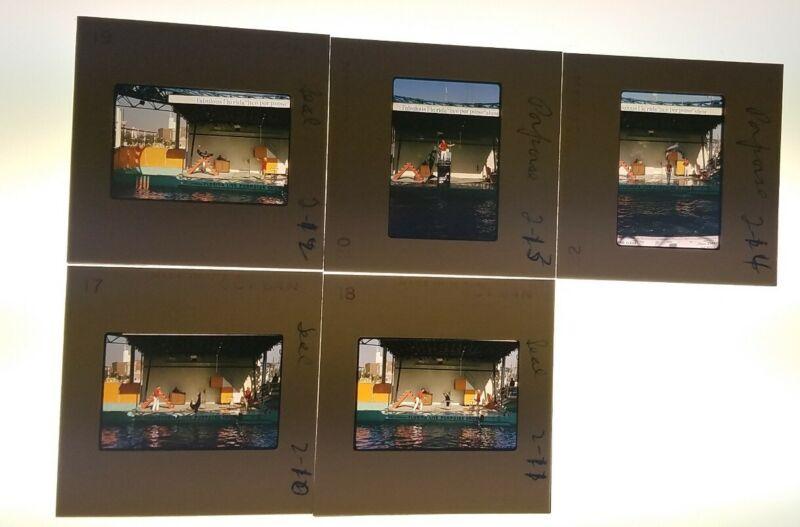 Lot of 5 - Vtg 1964 New york NY Worlds Fair Seal Porpoise Show 35mm Kodak Slides