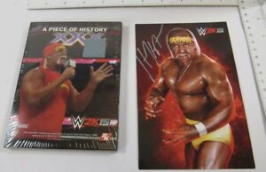 Autographed Hogan picture and Ring piece