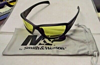 Smith Wesson Mp108-41-id Shooting Glasses Full Frame With Amber Af Lens Black