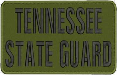 Tennessee State Guard (TENNESSEE STATE GUARD EMB PATCH 6X10 HOOK ON BACK OG/BLK)