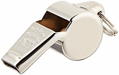 BRASS PLATED BRASS WHISTLE POLICE SECURITY ACME HWC USA GOLD PLATED TEACHER GYM