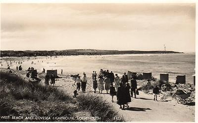 West Beach Covesea Lighthouse Lossiemouth unused RP old pc M & L National