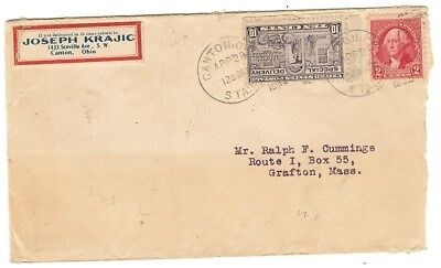 JOSEPH KRAJIC CANTON OHIO ON SPECIAL DELIVERY COVER WITH ENCLOSURE - 1932