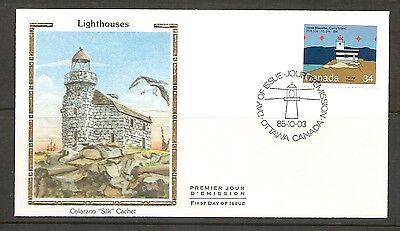 Canada SC # 1065 Lighthouses- Haut-Fond Prince FDC.Colorano Silk Cachet