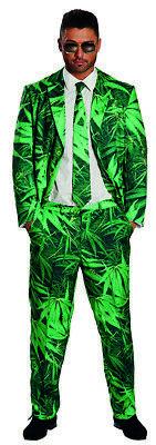 Hanf Anzug Herren Kostüm Suit Marihuana Cannabis Dope