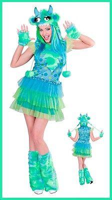 Ausserirdischer Kostüme (Space Monster Girl Kostüm Alien Damenkostüm Karneval Außerirdische Grün , (K))