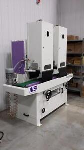 Flat bar and rectangular tube finishing machines