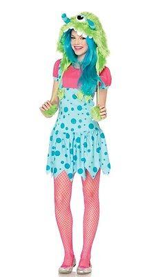 One-eyed erin juniors enchanted Monster Costume Halloween Dress  small 10-12 - One Eyed Monster Halloween Costume