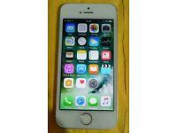 Iphone 5s 16gb white n silver unlocked