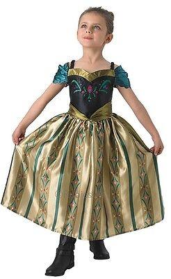 Girls Disney FROZEN Coronation ANNA Princess Book Day Fancy Dress Costume Outfit - Anna Coronation Day Dress