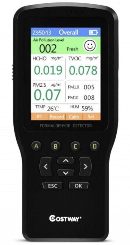 Air Quality monitor Formaldehyde HCHO TVOC Pm 1.0 Pm 2.5 Pm 10