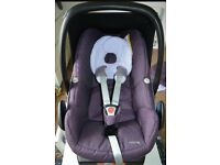 Maxi Cosi pebble car seat in Sparkling Grape group 0 from newborn